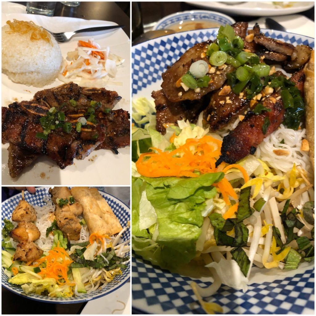 Vermicelli, and beef short ribs with coconut rice