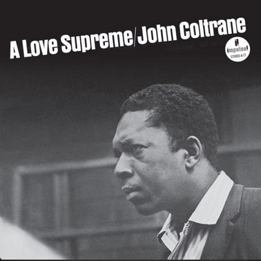 "John Coltrane's ""A Love Supreme"" album cover"