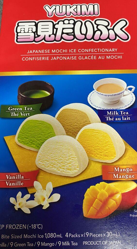 Japanese mochi ice treats